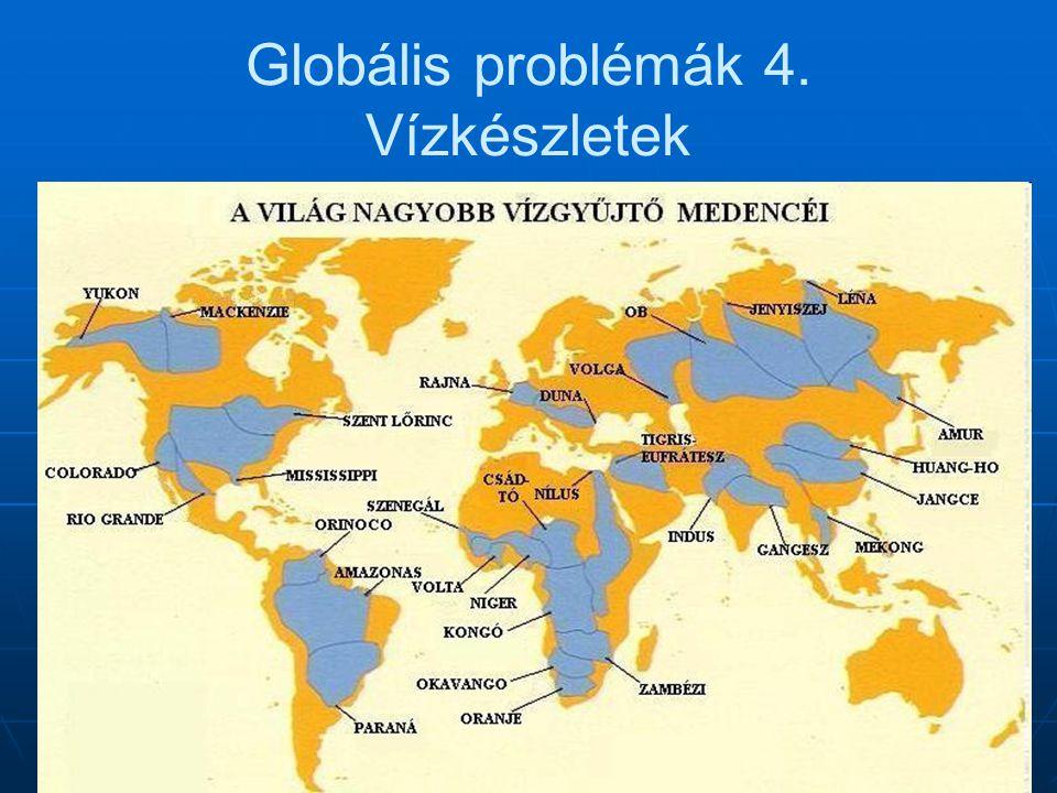 Globális problémák 4. Vízkészletek