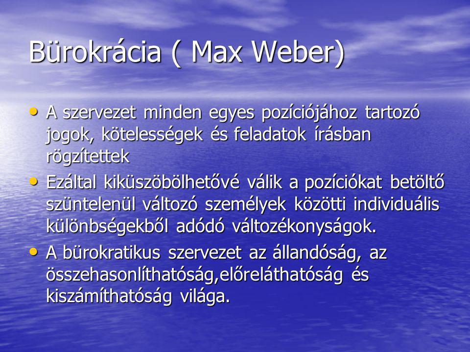 Bürokrácia ( Max Weber)
