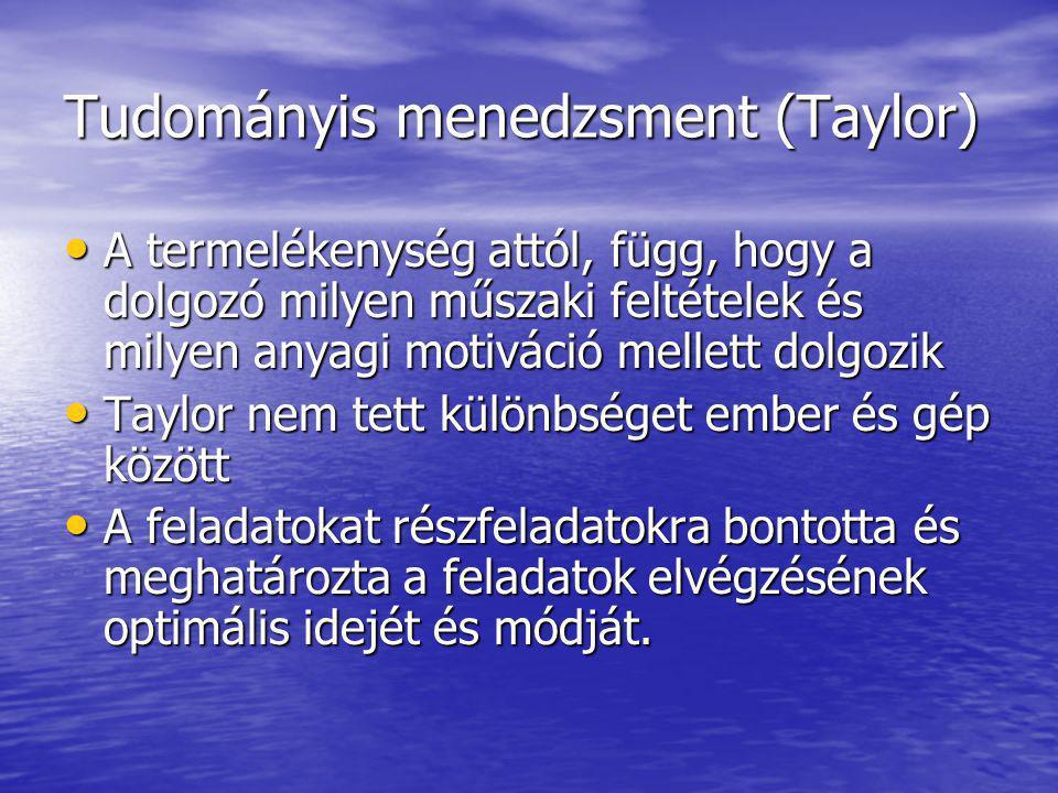 Tudományis menedzsment (Taylor)