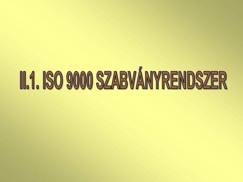 II.1. ISO 9000 SZABVÁNYRENDSZER