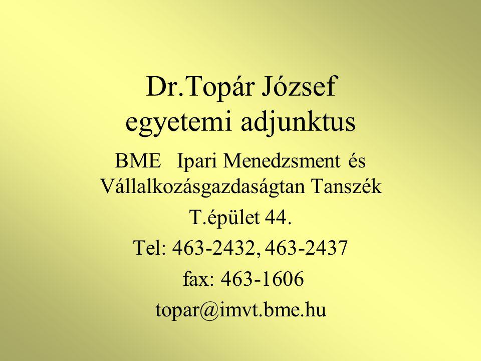 Dr.Topár József egyetemi adjunktus