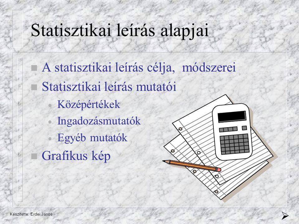 Statisztikai leírás alapjai