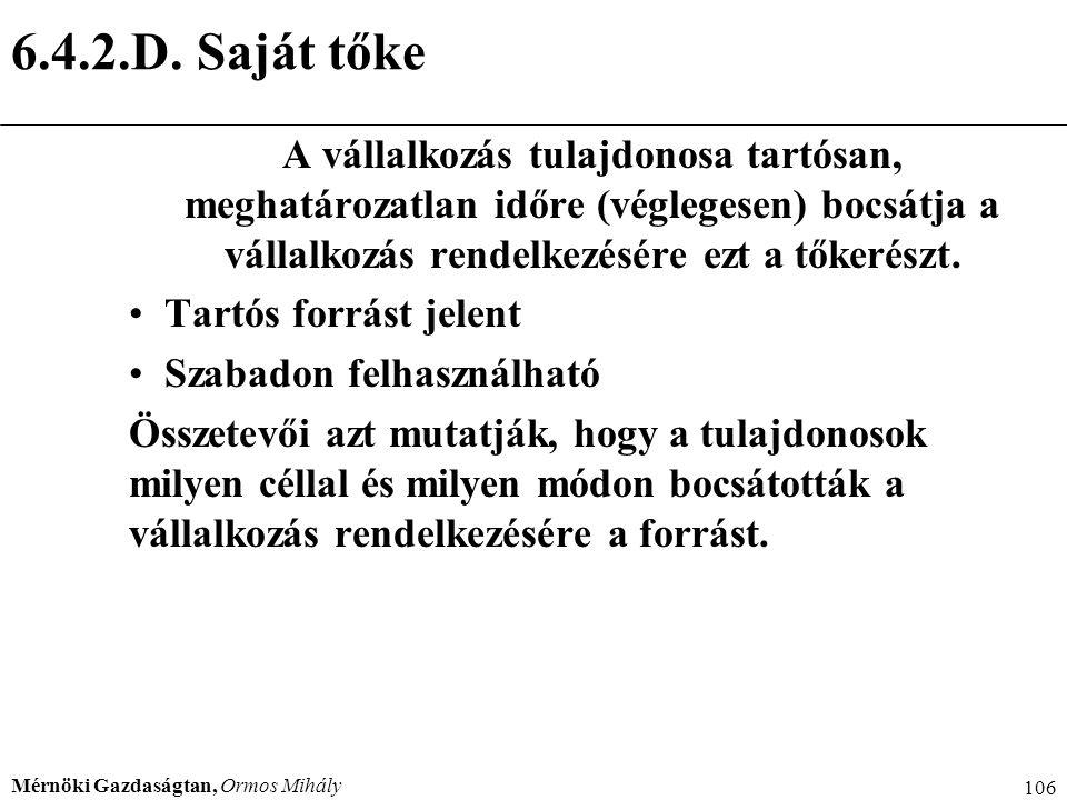6.4.2.D. Saját tőke Menedzser 2000.