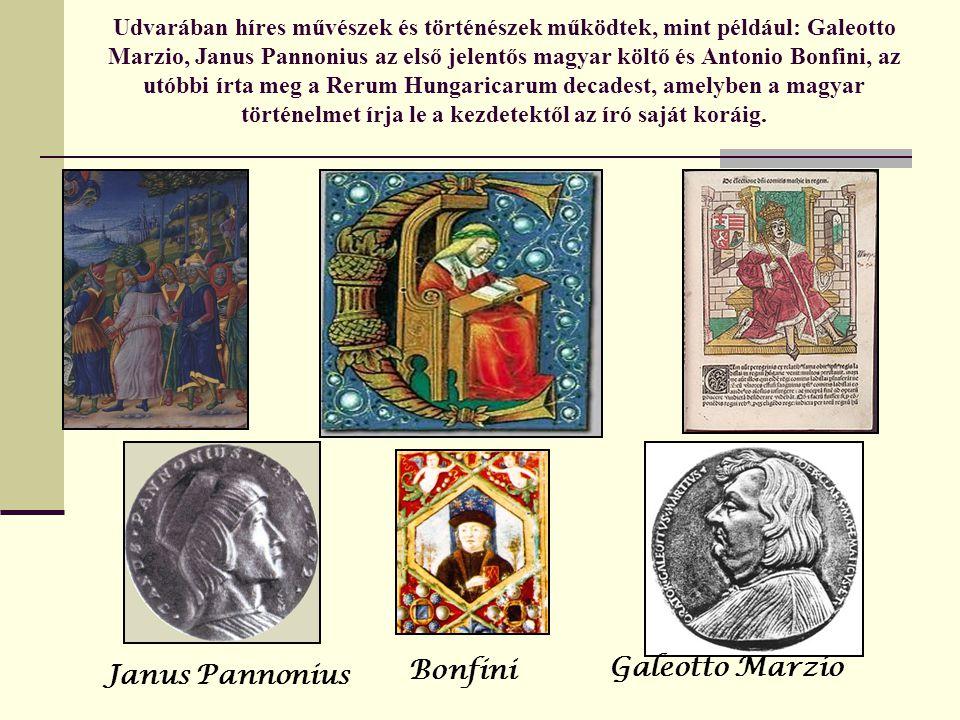 Bonfini Galeotto Marzio Janus Pannonius