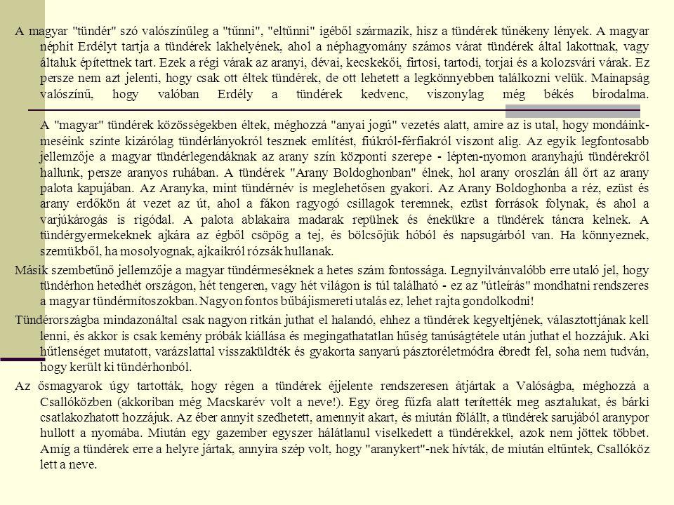 A magyar tündér szó valószínűleg a tűnni , eltűnni igéből származik, hisz a tündérek tűnékeny lények.