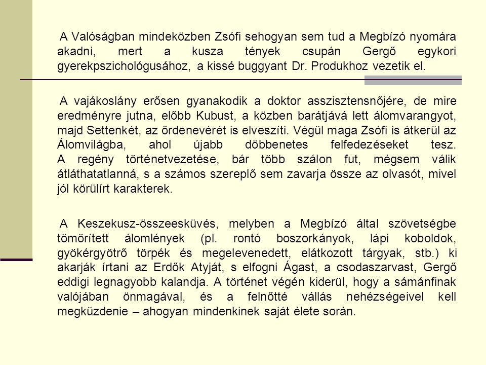 A Valóságban mindeközben Zsófi sehogyan sem tud a Megbízó nyomára akadni, mert a kusza tények csupán Gergő egykori gyerekpszichológusához, a kissé buggyant Dr.
