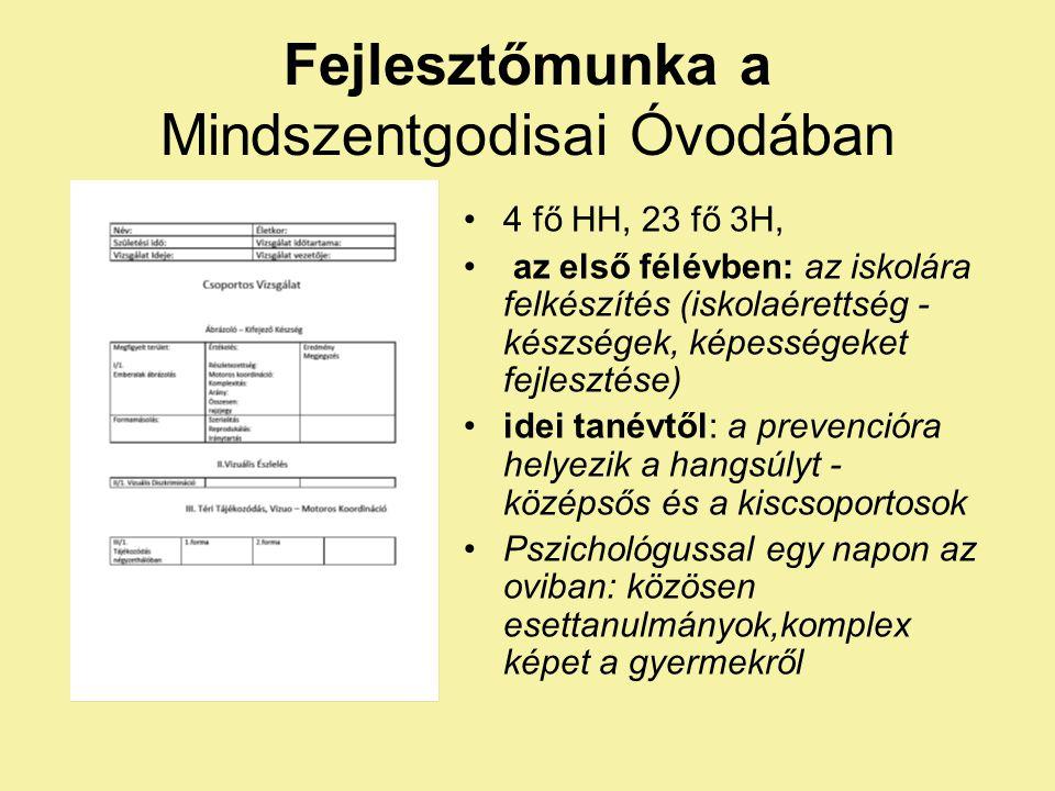 Fejlesztőmunka a Mindszentgodisai Óvodában