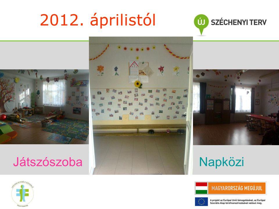 2012. áprilistól Játszószoba Napközi