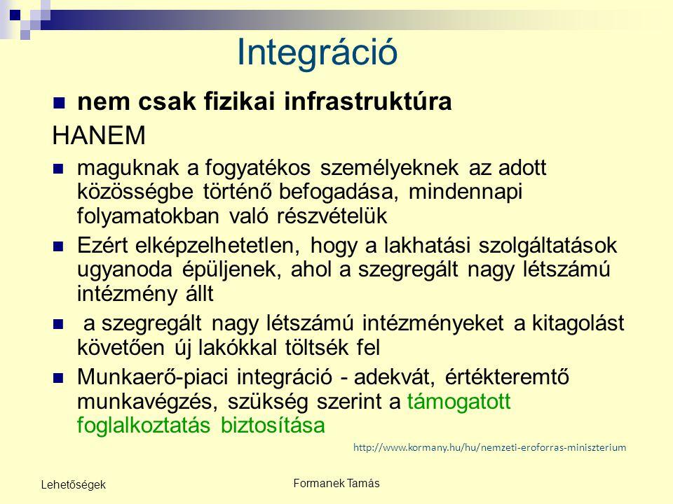 Integráció nem csak fizikai infrastruktúra HANEM