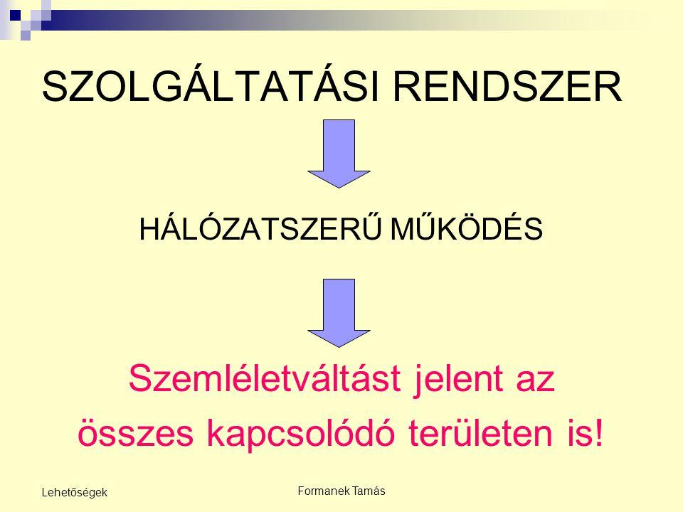 SZOLGÁLTATÁSI RENDSZER