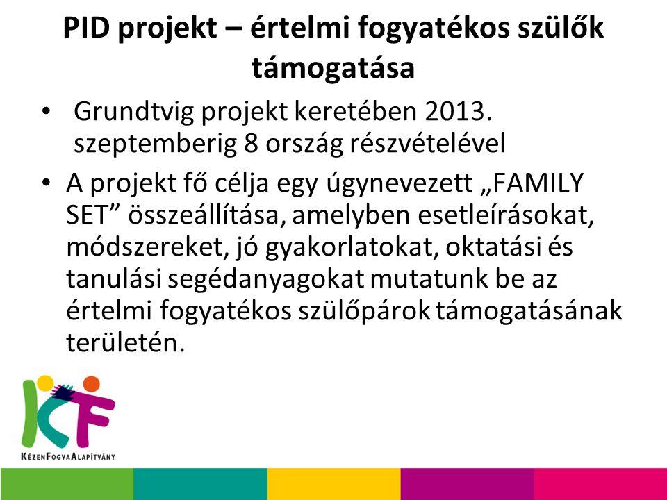 PID projekt – értelmi fogyatékos szülők támogatása