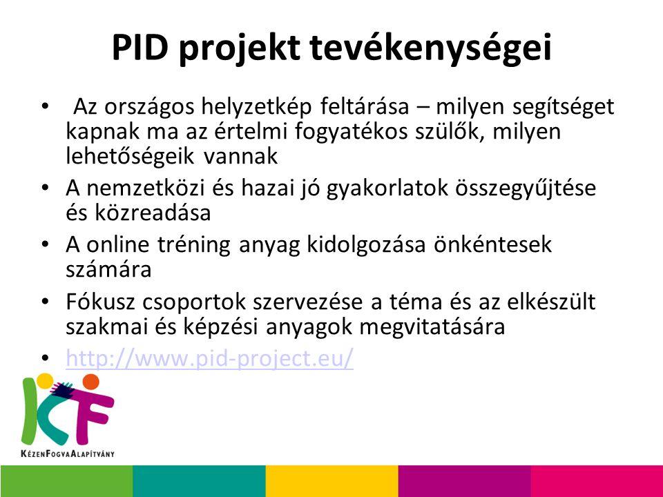 PID projekt tevékenységei
