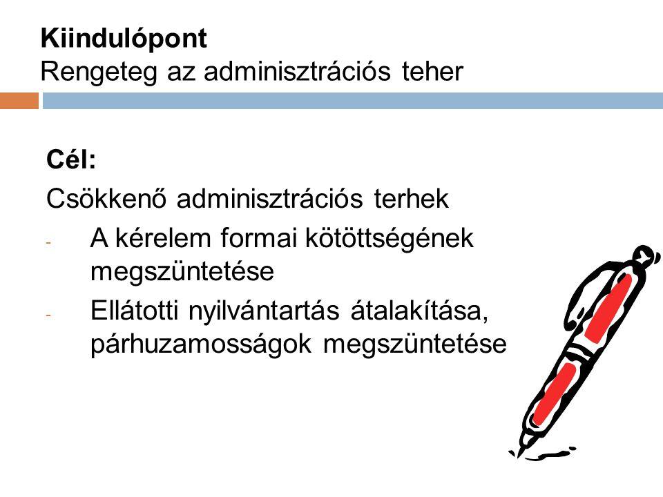 Kiindulópont Rengeteg az adminisztrációs teher