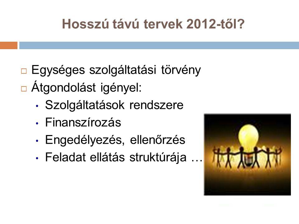 Hosszú távú tervek 2012-től
