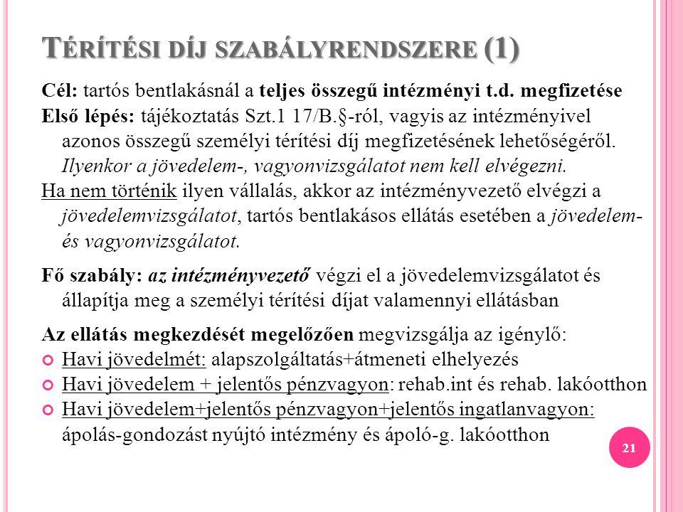 Térítési díj szabályrendszere (1)