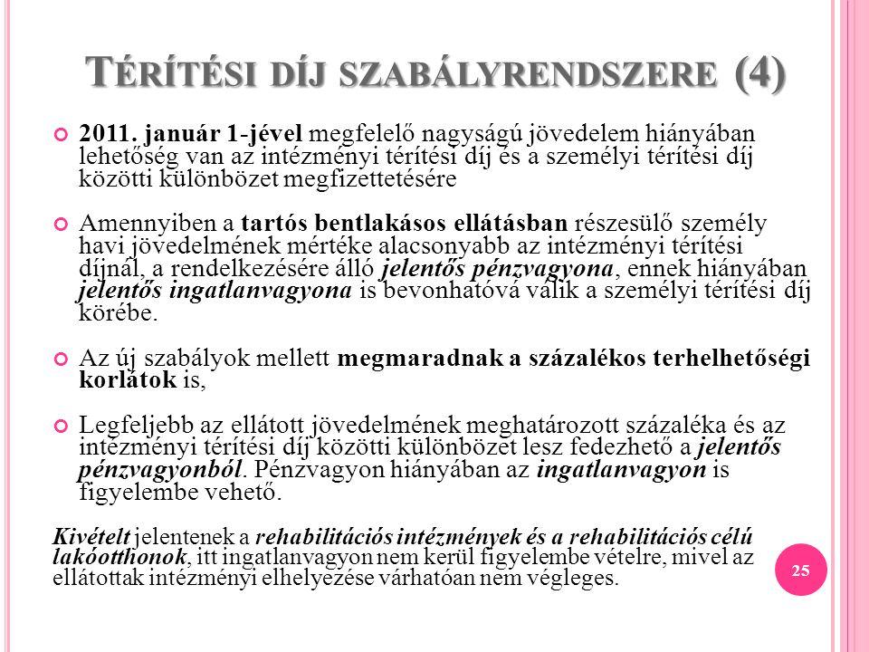 Térítési díj szabályrendszere (4)