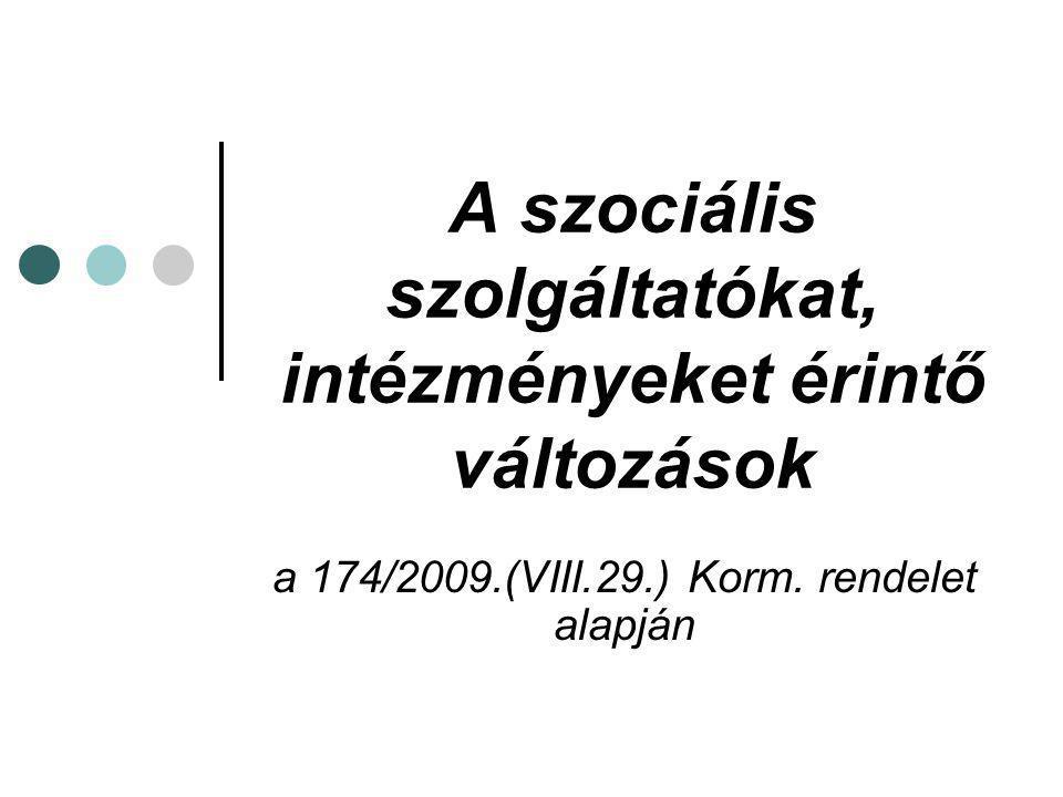A szociális szolgáltatókat, intézményeket érintő változások