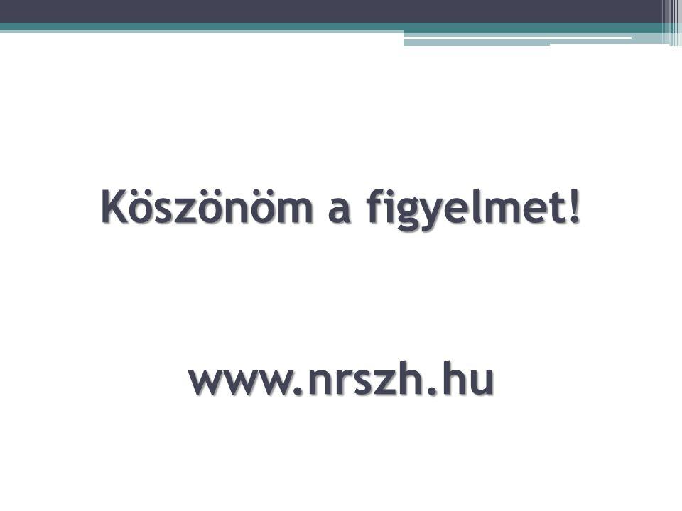 Köszönöm a figyelmet! www.nrszh.hu