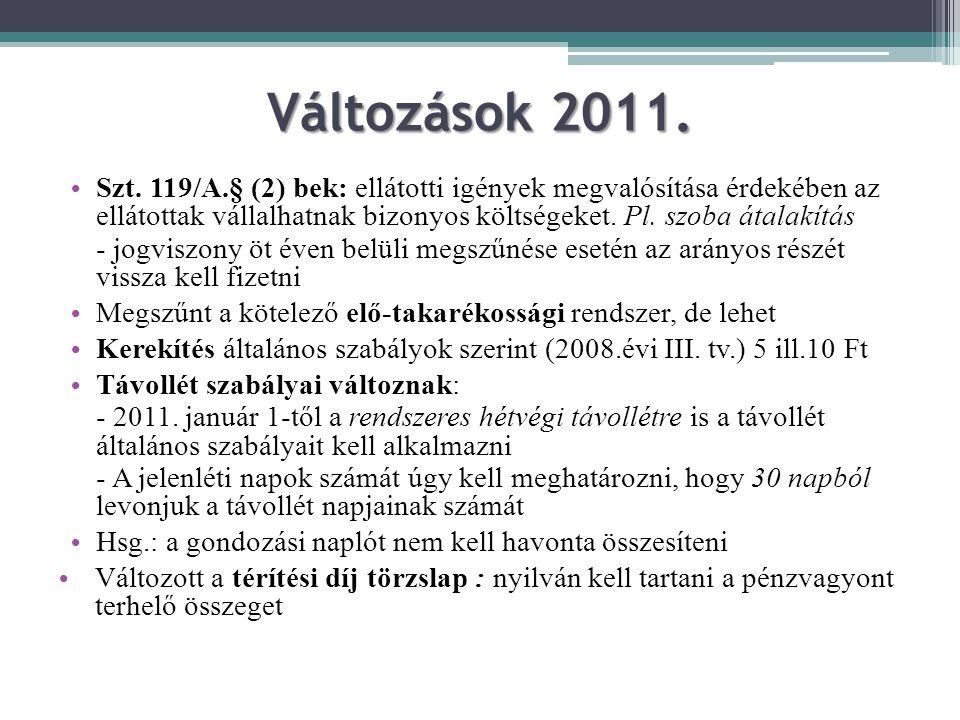 Változások 2011.