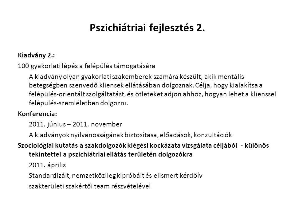 Pszichiátriai fejlesztés 2.