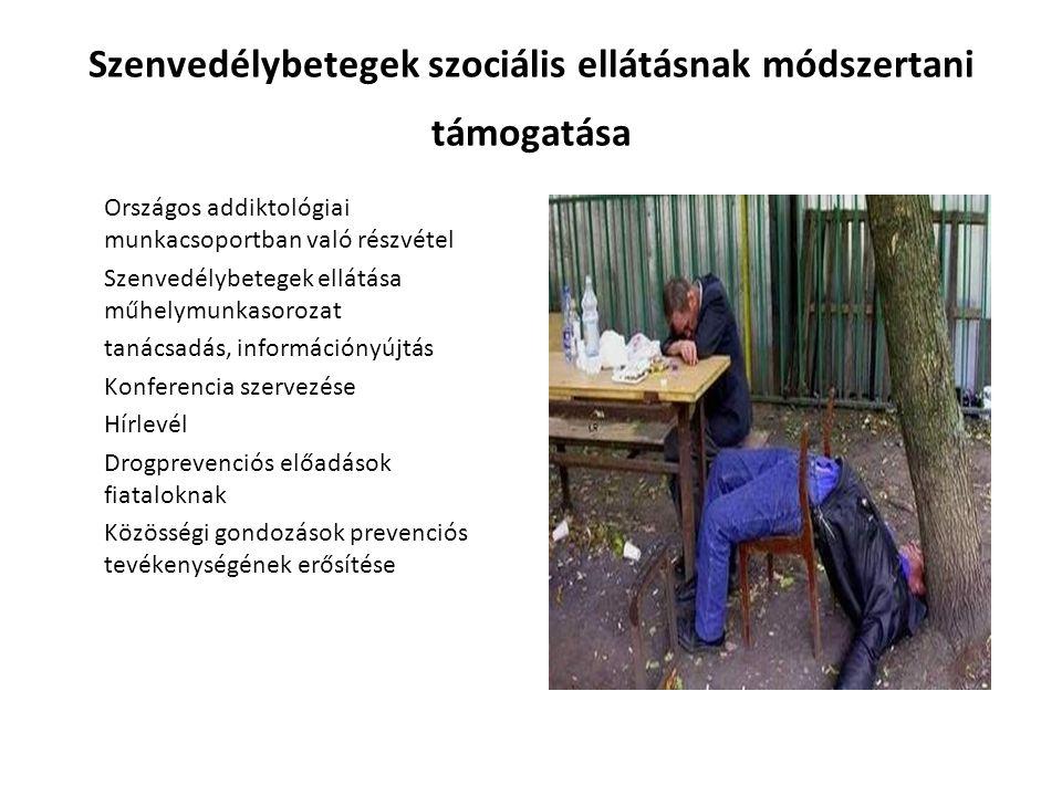 Szenvedélybetegek szociális ellátásnak módszertani támogatása