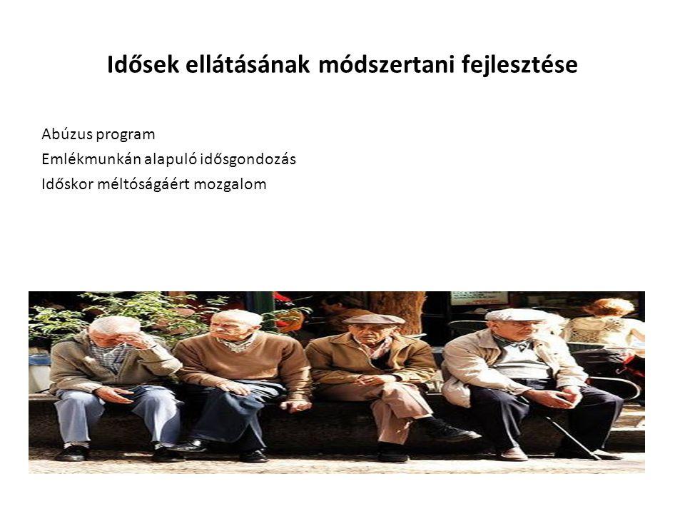 Idősek ellátásának módszertani fejlesztése