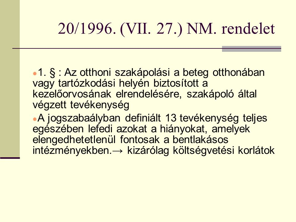20/1996. (VII. 27.) NM. rendelet