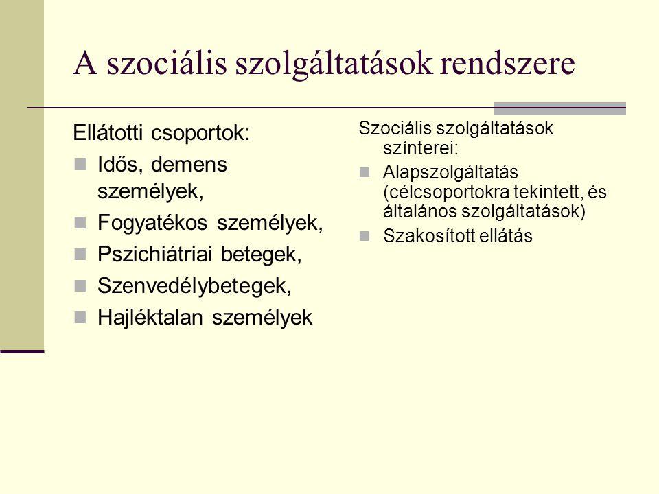 A szociális szolgáltatások rendszere