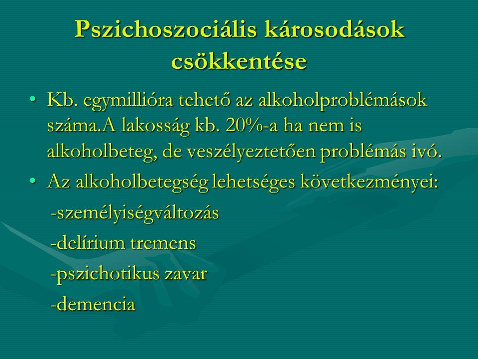 Pszichoszociális károsodások csökkentése