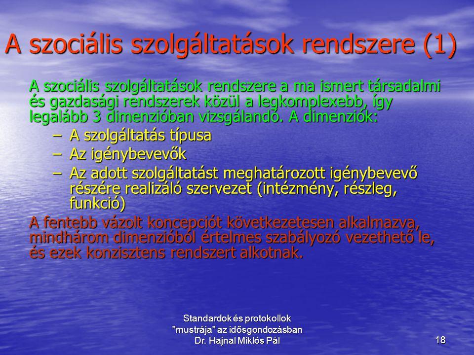 A szociális szolgáltatások rendszere (1)
