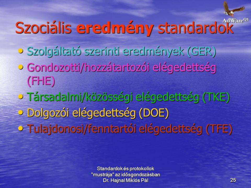 Szociális eredmény standardok