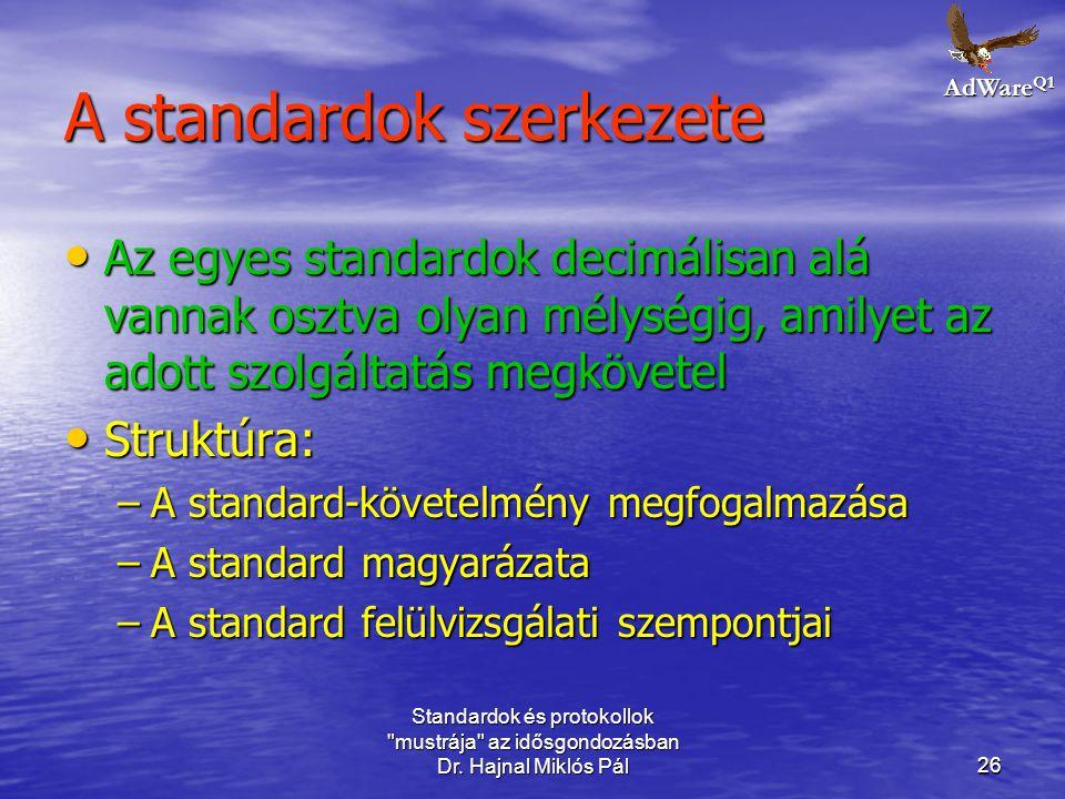 A standardok szerkezete