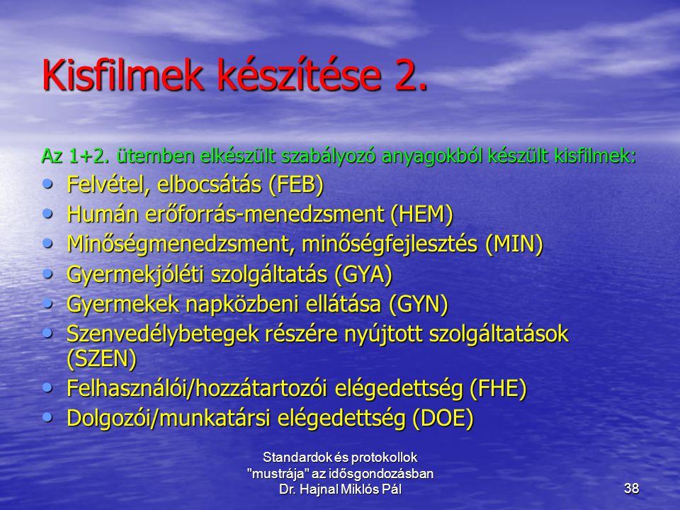 Kisfilmek készítése 2. Felvétel, elbocsátás (FEB)