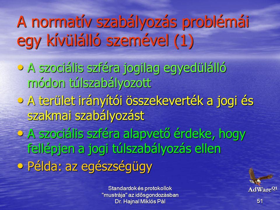 A normatív szabályozás problémái egy kívülálló szemével (1)
