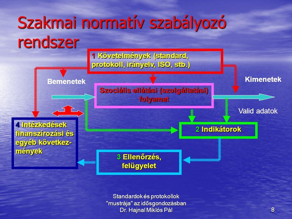 Szakmai normatív szabályozó rendszer