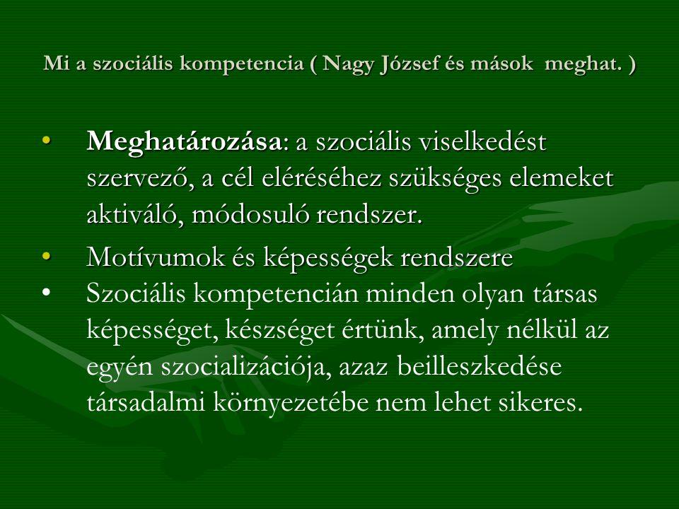 Mi a szociális kompetencia ( Nagy József és mások meghat. )