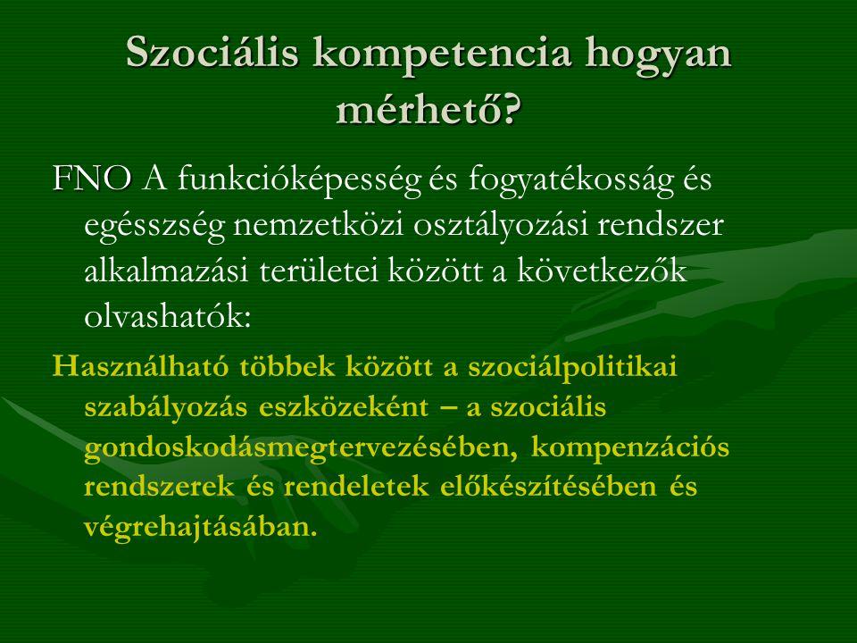 Szociális kompetencia hogyan mérhető