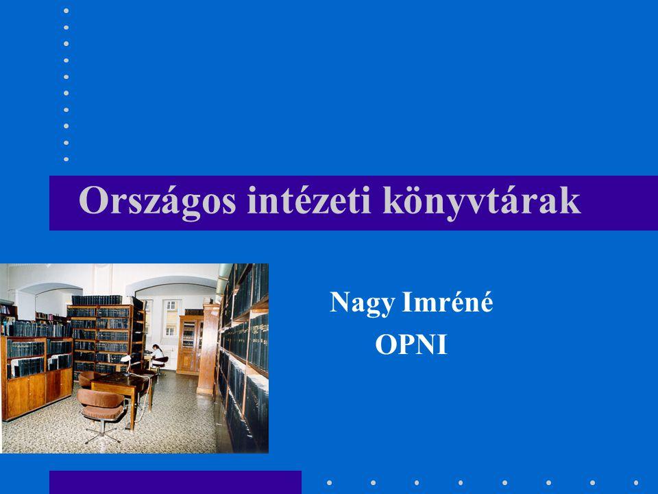 Országos intézeti könyvtárak