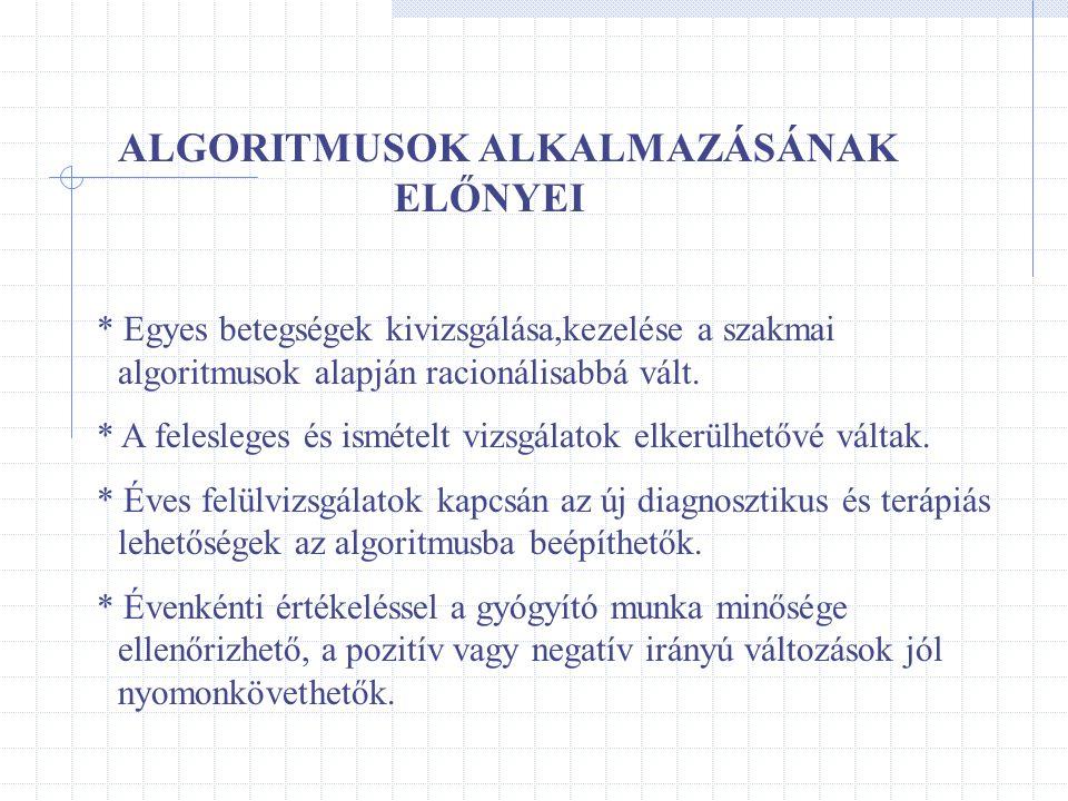 ALGORITMUSOK ALKALMAZÁSÁNAK ELŐNYEI