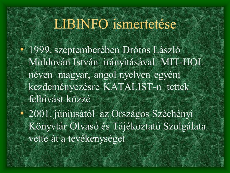 LIBINFO ismertetése