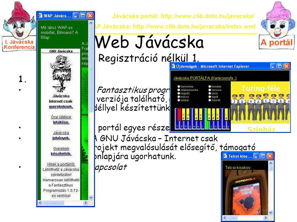 Web Jávácska Regisztráció nélkül 1.
