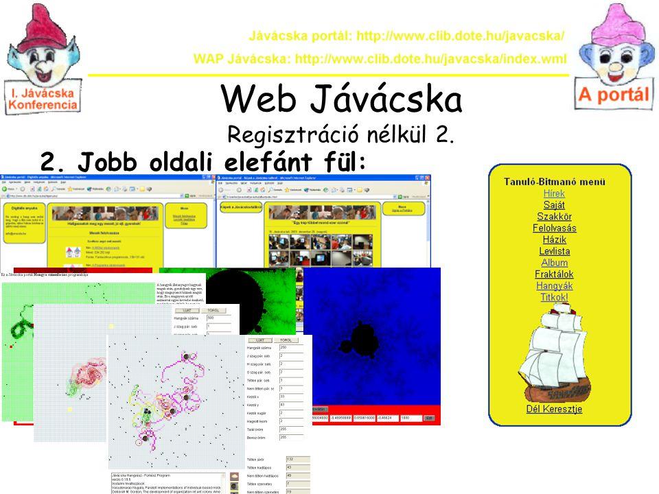 Web Jávácska Regisztráció nélkül 2.
