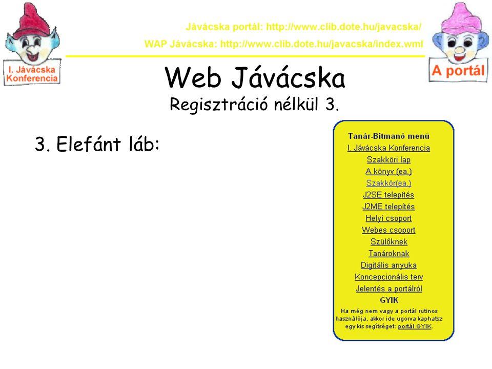 Web Jávácska Regisztráció nélkül 3.