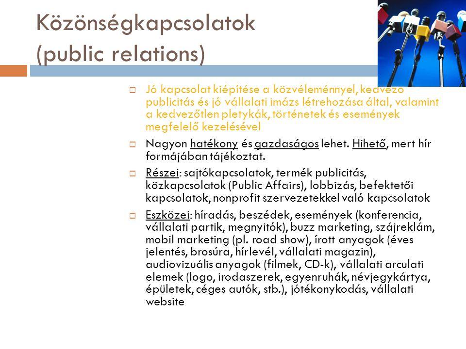 Közönségkapcsolatok (public relations)