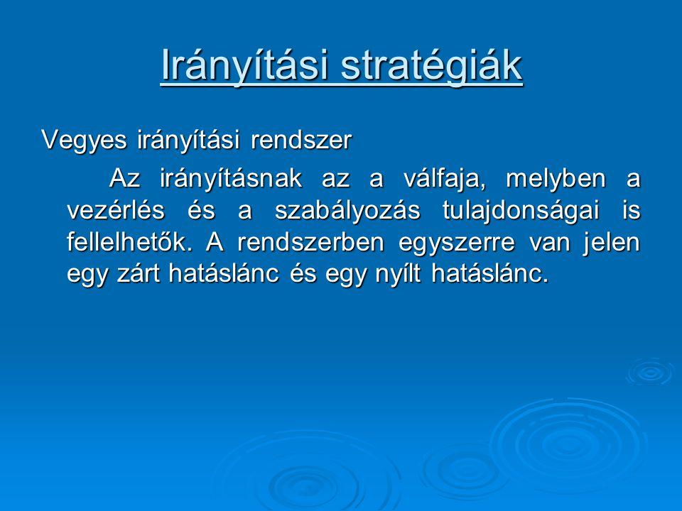Irányítási stratégiák