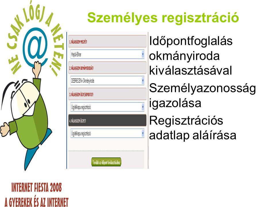 Személyes regisztráció