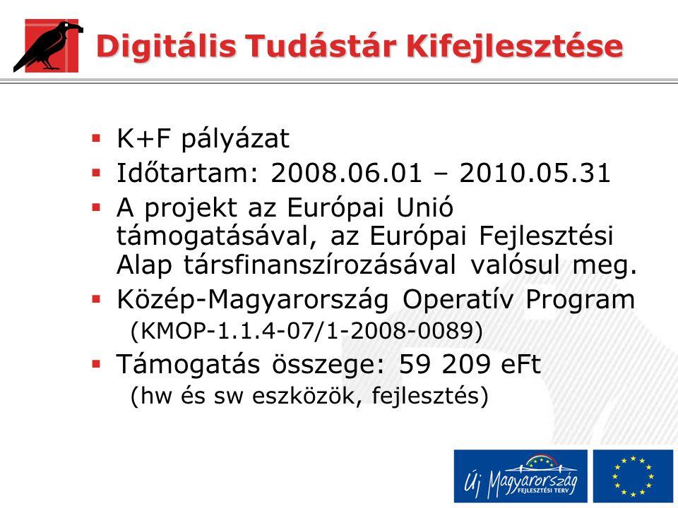 Digitális Tudástár Kifejlesztése