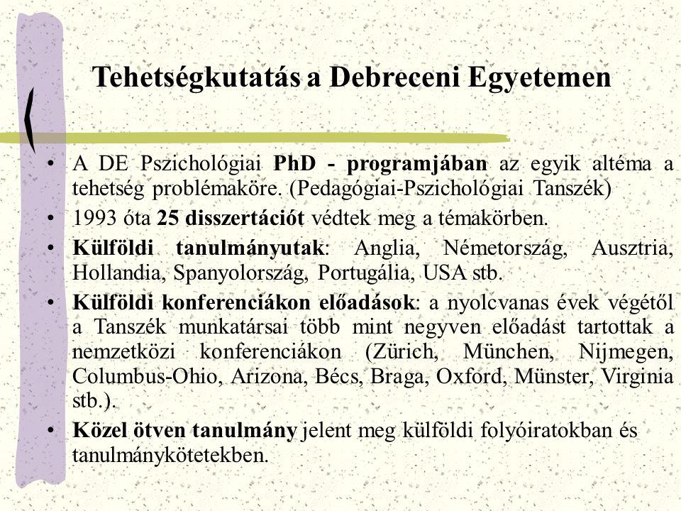 Tehetségkutatás a Debreceni Egyetemen