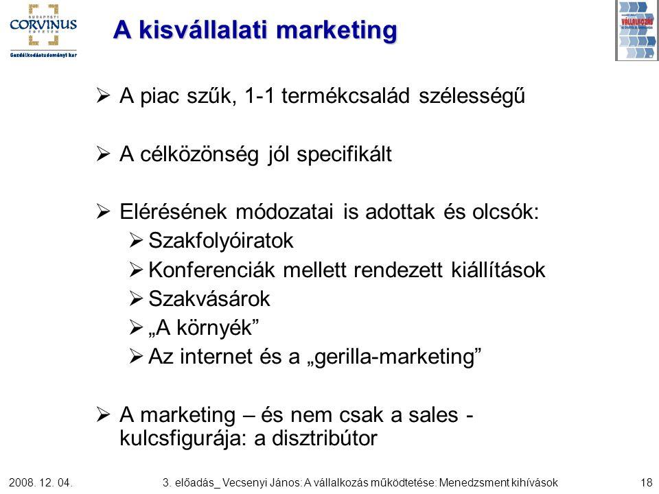 A kisvállalati marketing
