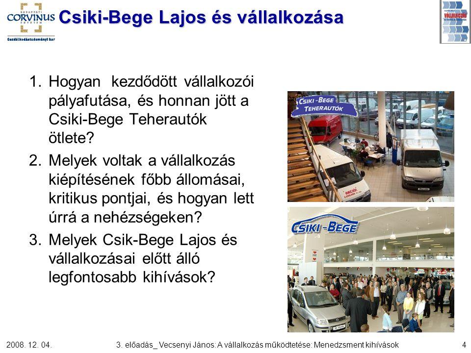 Csiki-Bege Lajos és vállalkozása